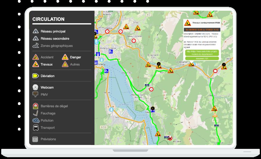 Carte interactive inforoute