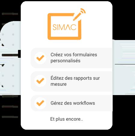 Fonctionnalités SIMAC